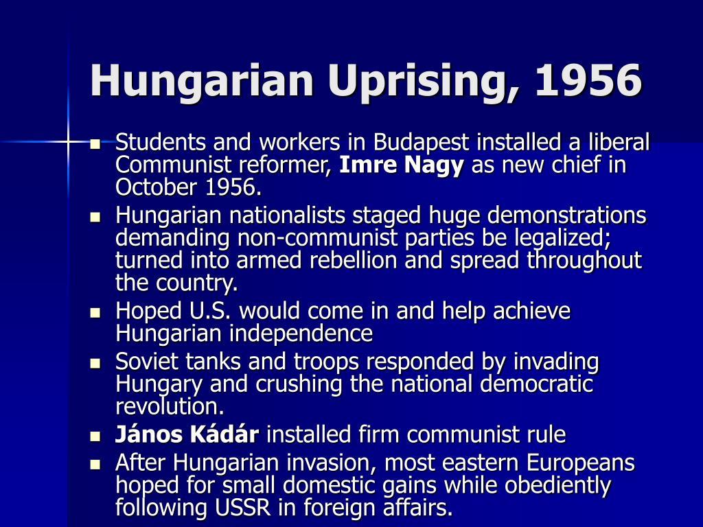 Hungarian Uprising, 1956
