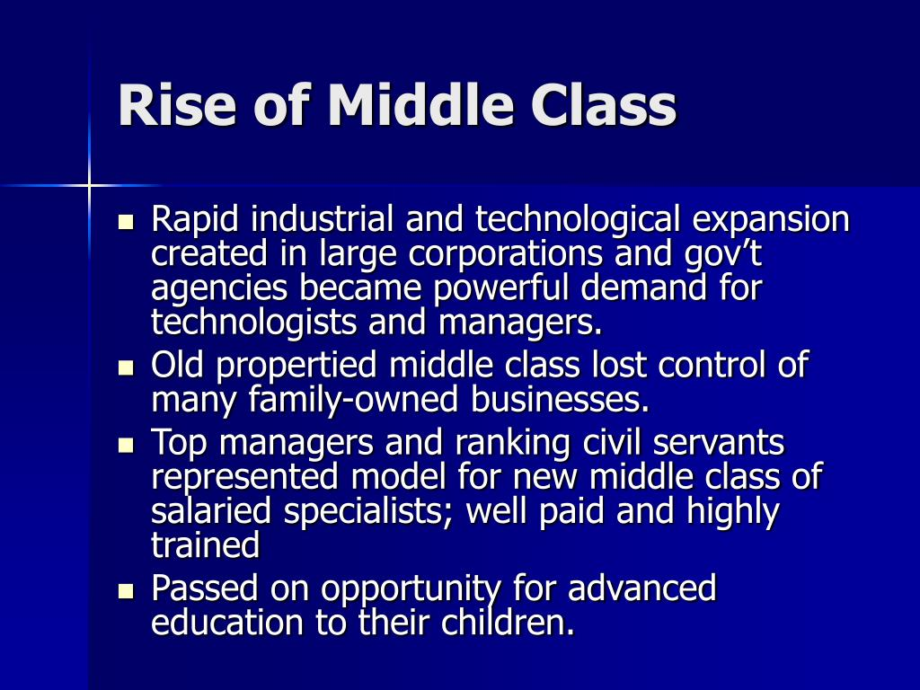 Rise of Middle Class