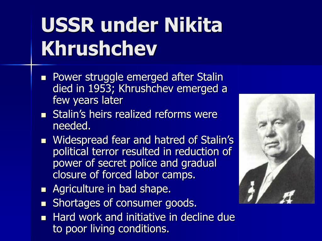 USSR under Nikita Khrushchev