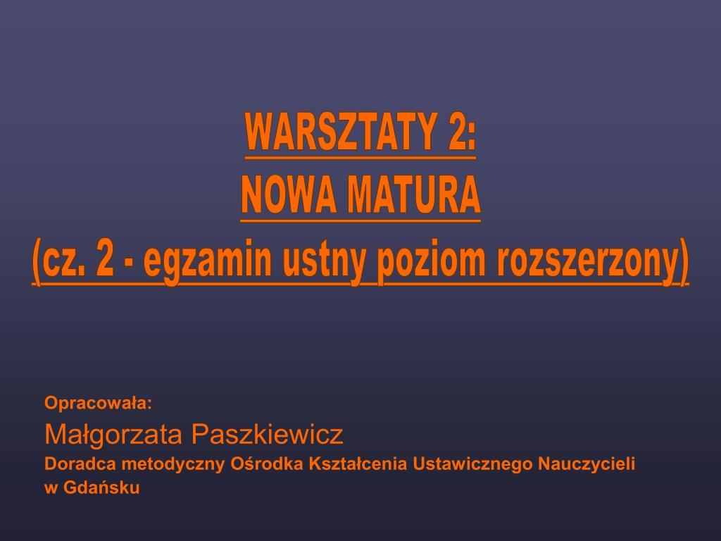 WARSZTATY 2: