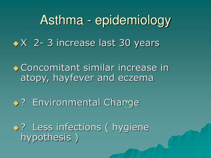 Asthma - epidemiology