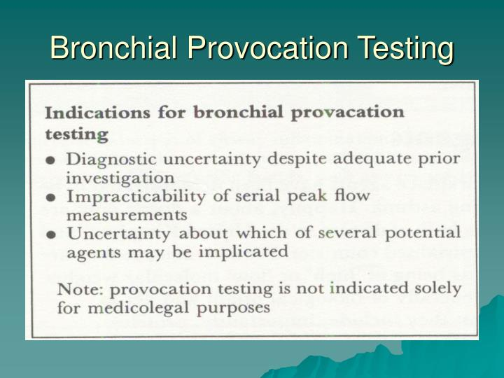 Bronchial Provocation Testing