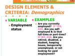 design elements criteria demographics10