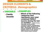 design elements criteria demographics12