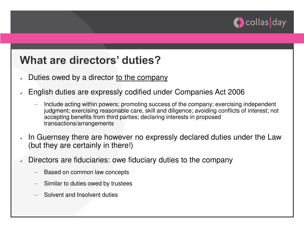 fiduciary duties of directors essay example Fiduciary duties write a short essay  the shareholder claims that the directors violated their fiduciary duties of for example corporate trust is mandated.