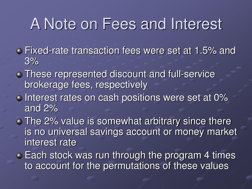 A Note on Fees and Interest