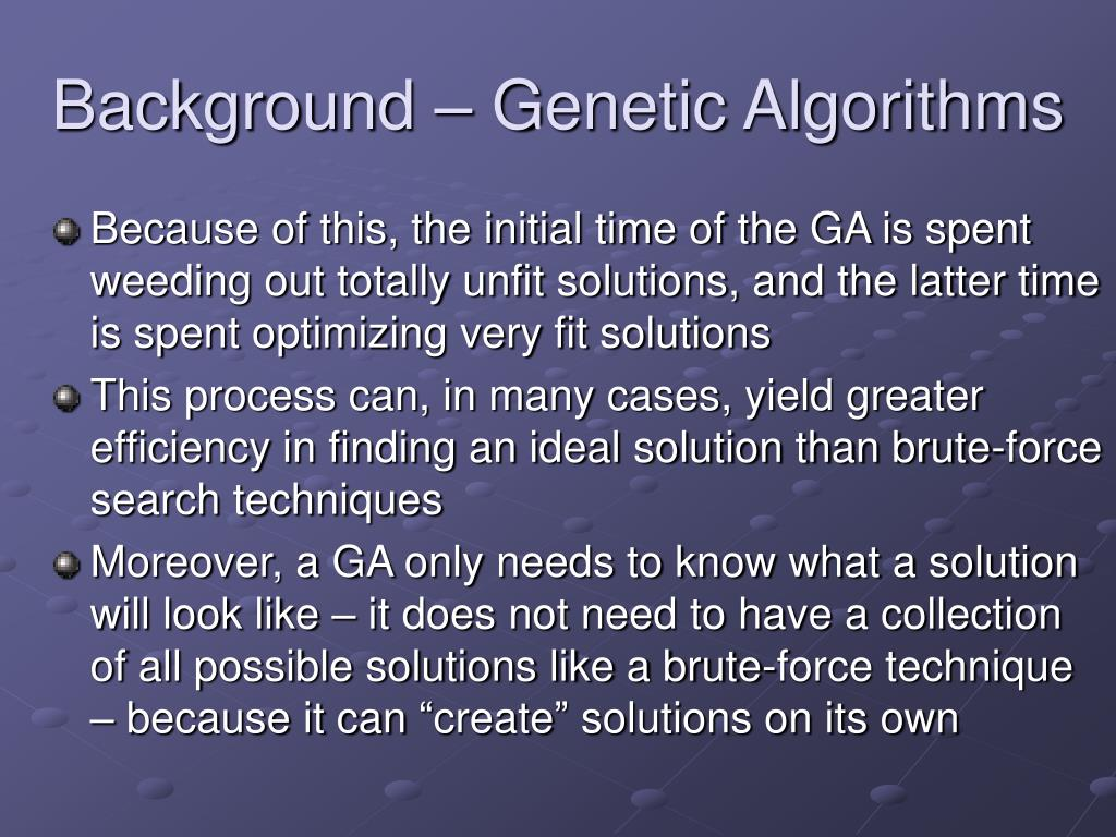Background – Genetic Algorithms