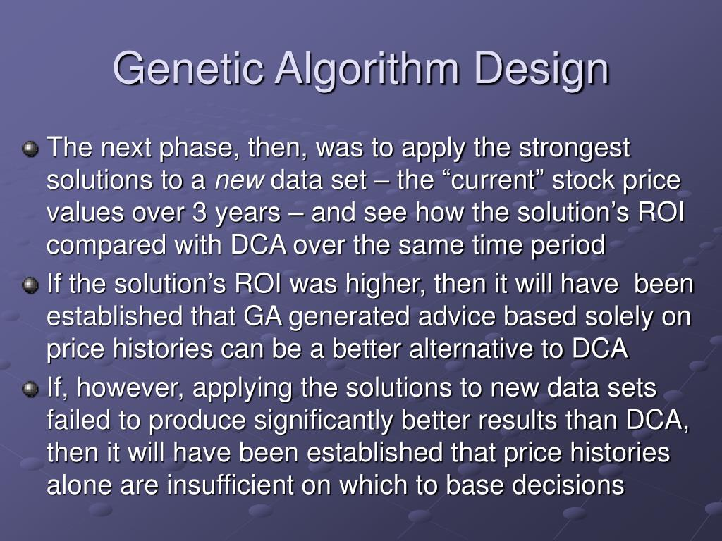 Genetic Algorithm Design
