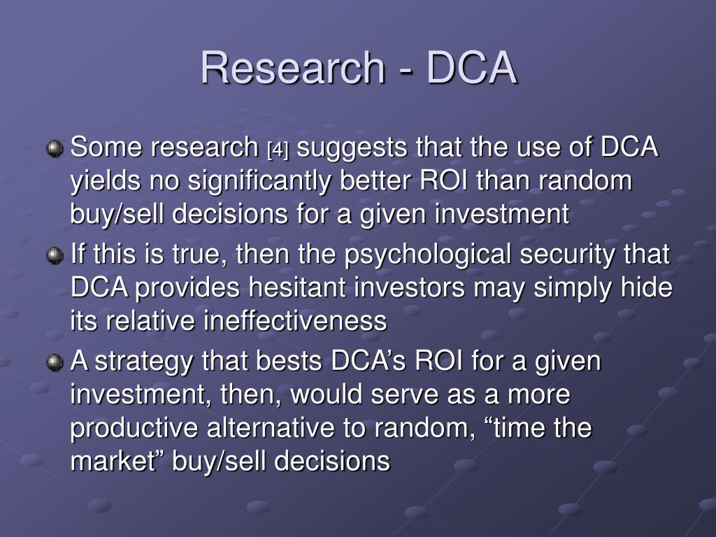 Research - DCA