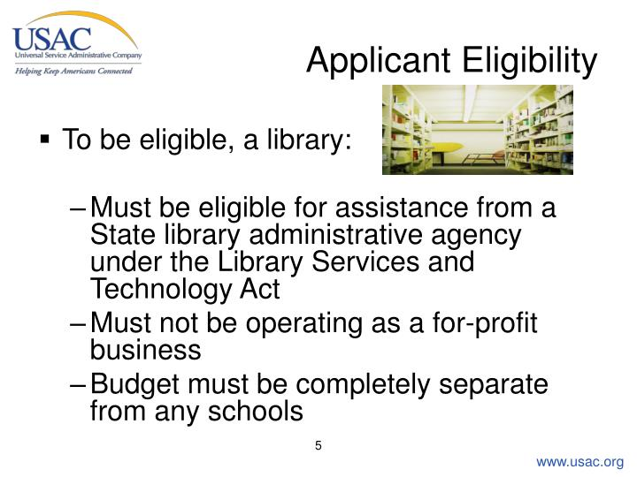 Applicant Eligibility