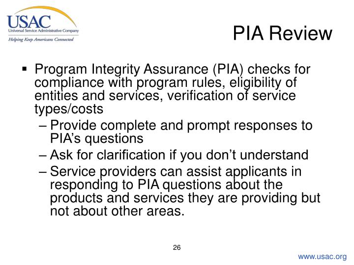 PIA Review