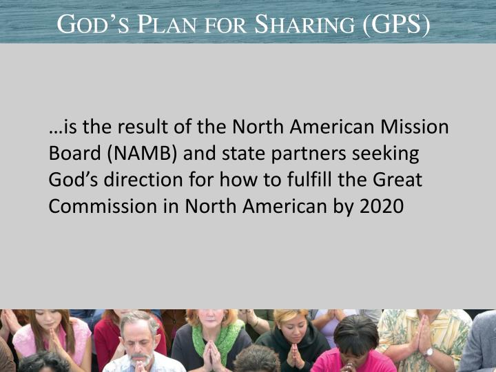 God s plan for sharing gps