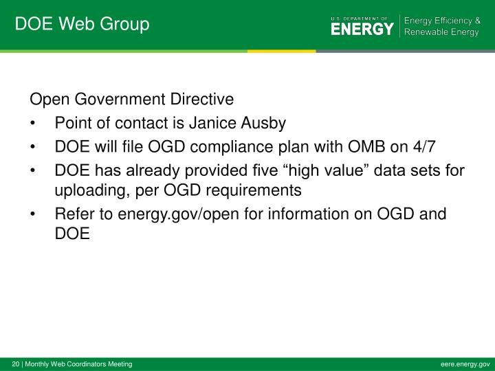 DOE Web Group
