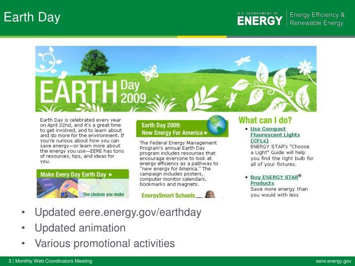 Updated eere.energy.gov/earthday