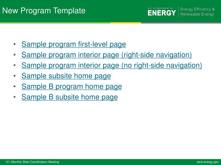 Sample program first-level page