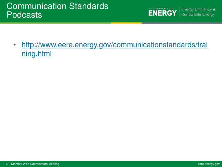 Communication Standards Podcasts