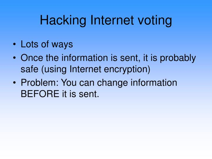 Hacking Internet voting