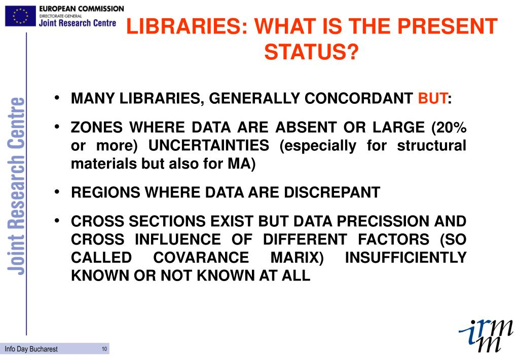 LIBRARIES: WHAT IS THE PRESENT STATUS?