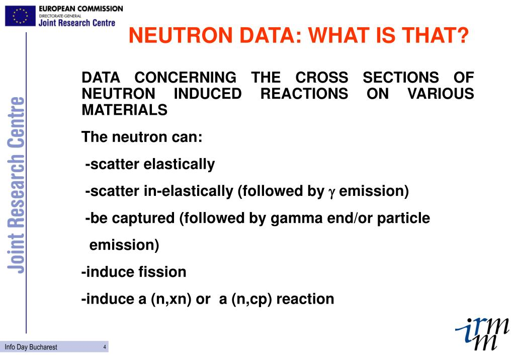 NEUTRON DATA: WHAT IS THAT?