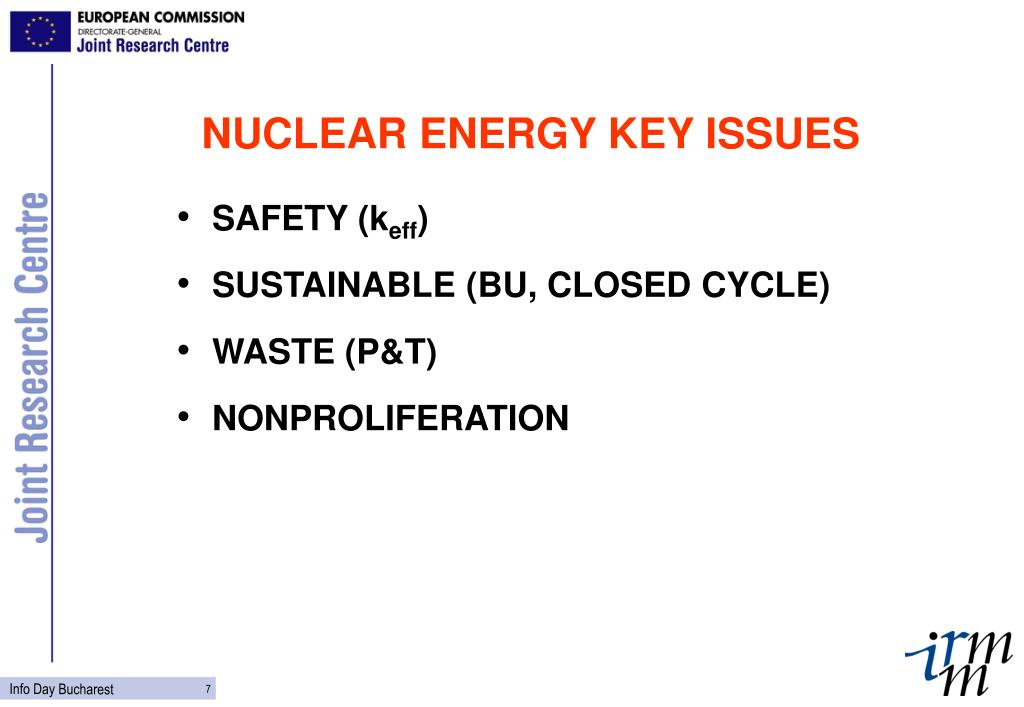 NUCLEAR ENERGY KEY ISSUES