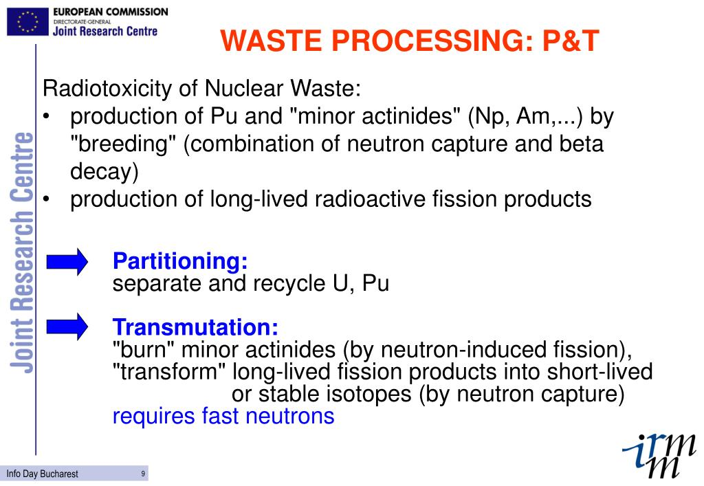 WASTE PROCESSING: P&T