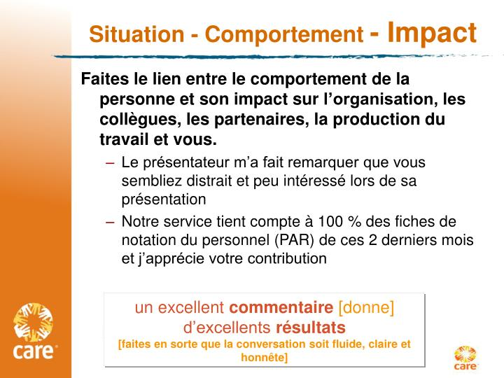 Situation- Comportement