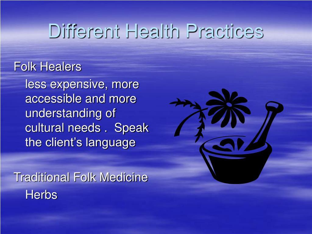 Different Health Practices