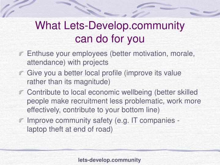 What Lets-Develop.community