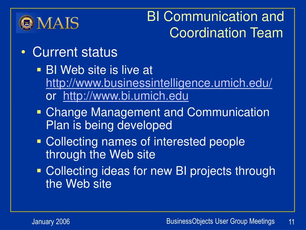 BI Communication and