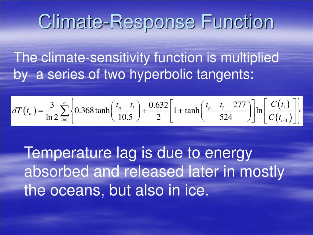 Climate-Response Function