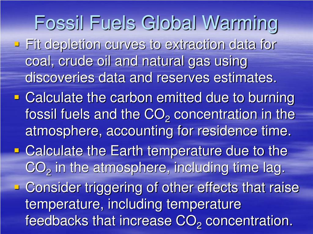 Fossil Fuels Global Warming