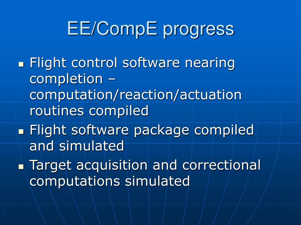 EE/CompE progress