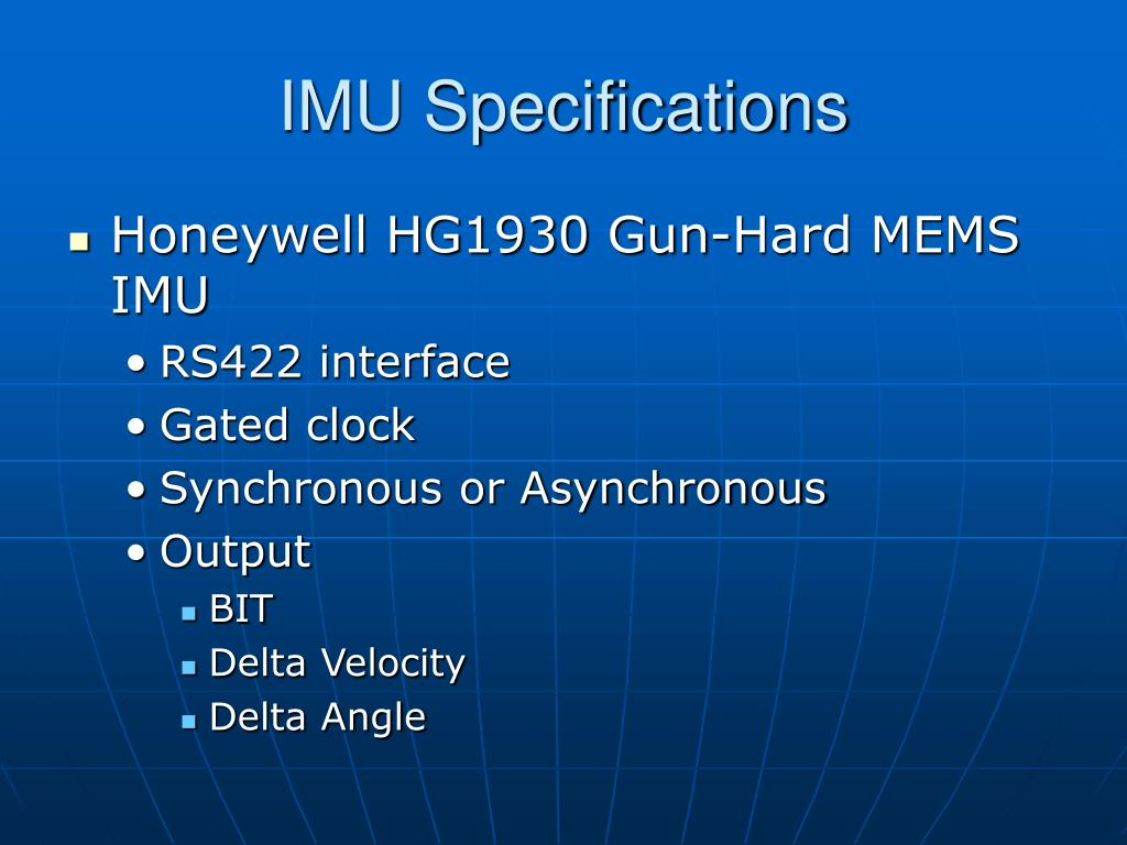 IMU Specifications