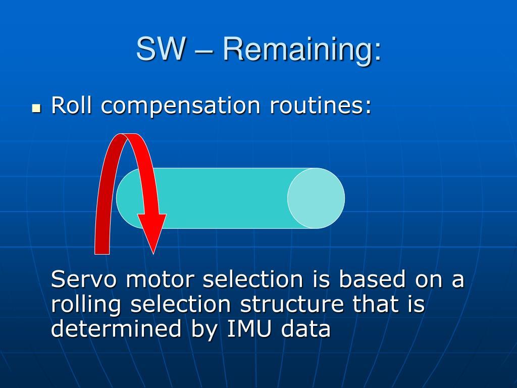 SW – Remaining: