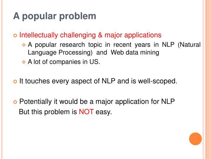A popular problem