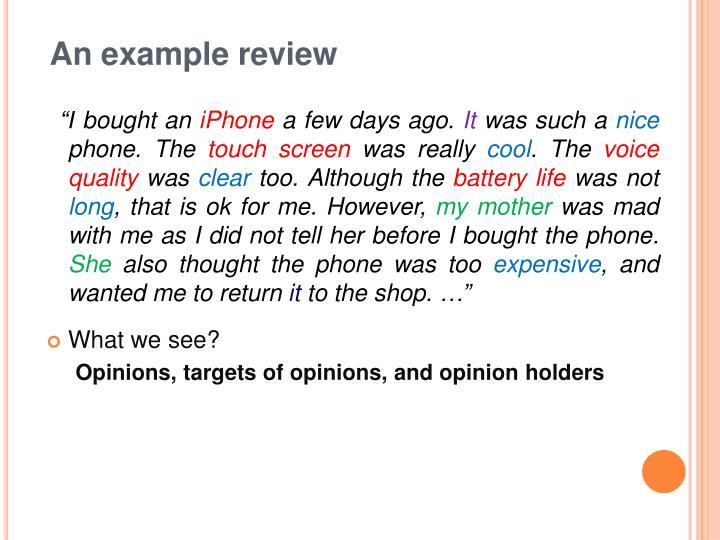 An example review