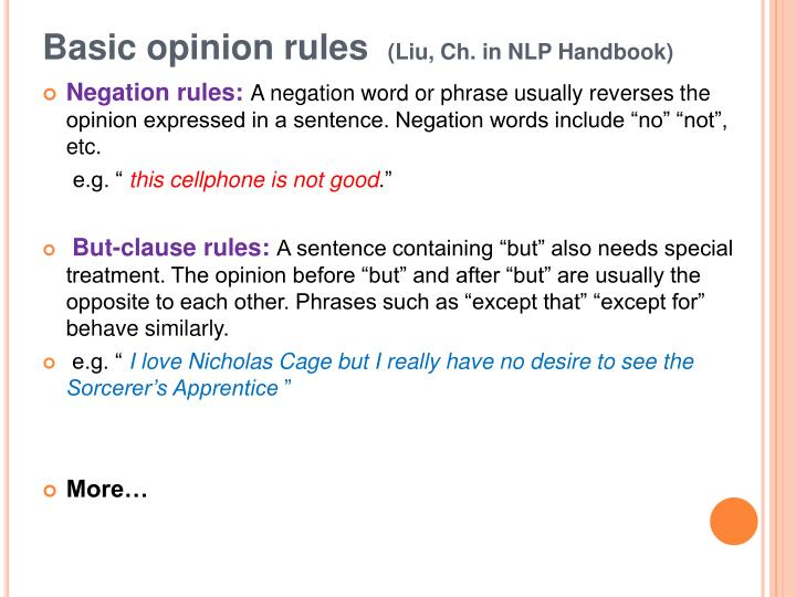 Basic opinion rules