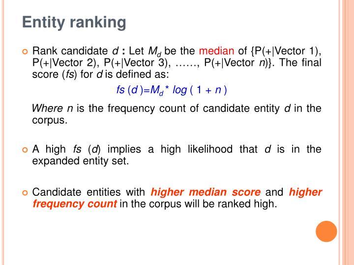 Entity ranking