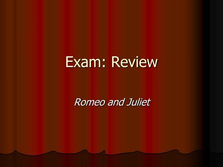 Exam: Review