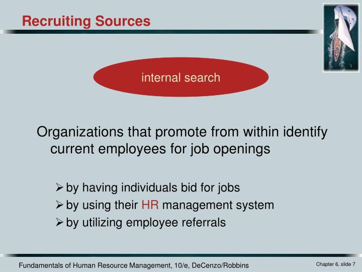 Organizations that promote from within identify current employees for job openings