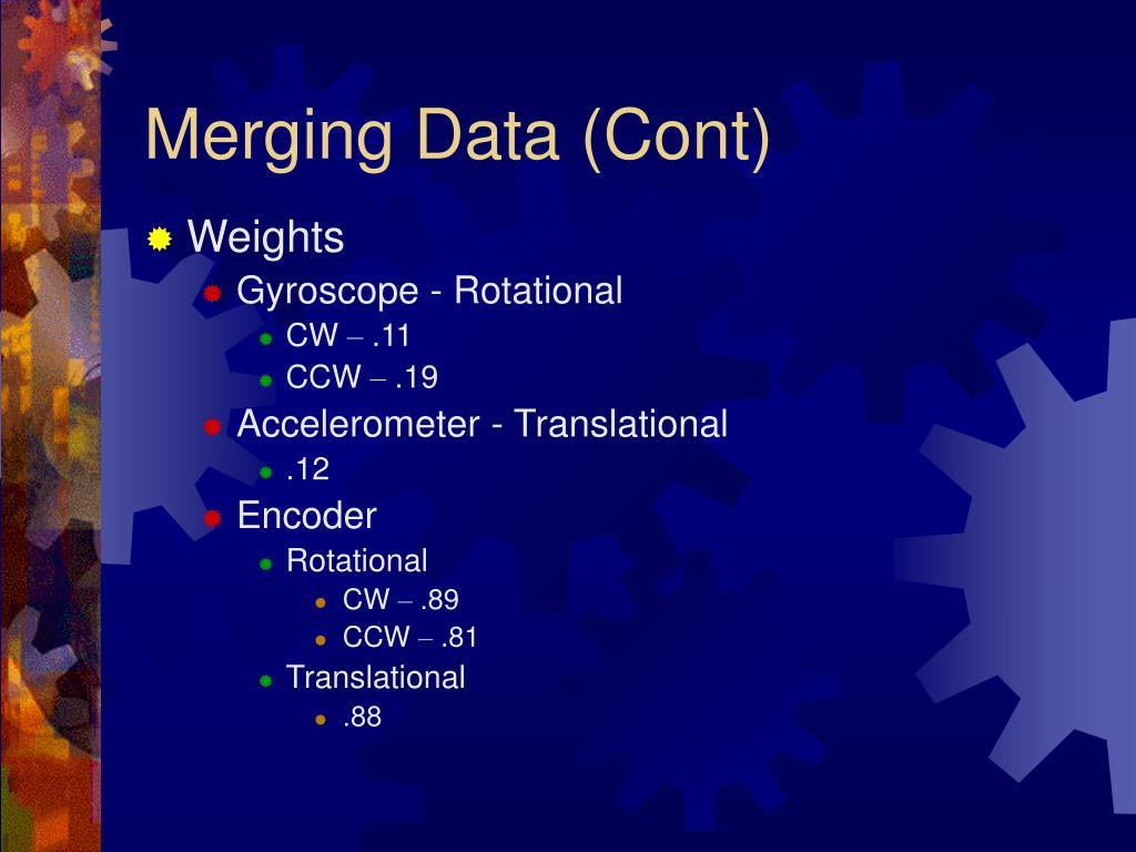 Merging Data (Cont)