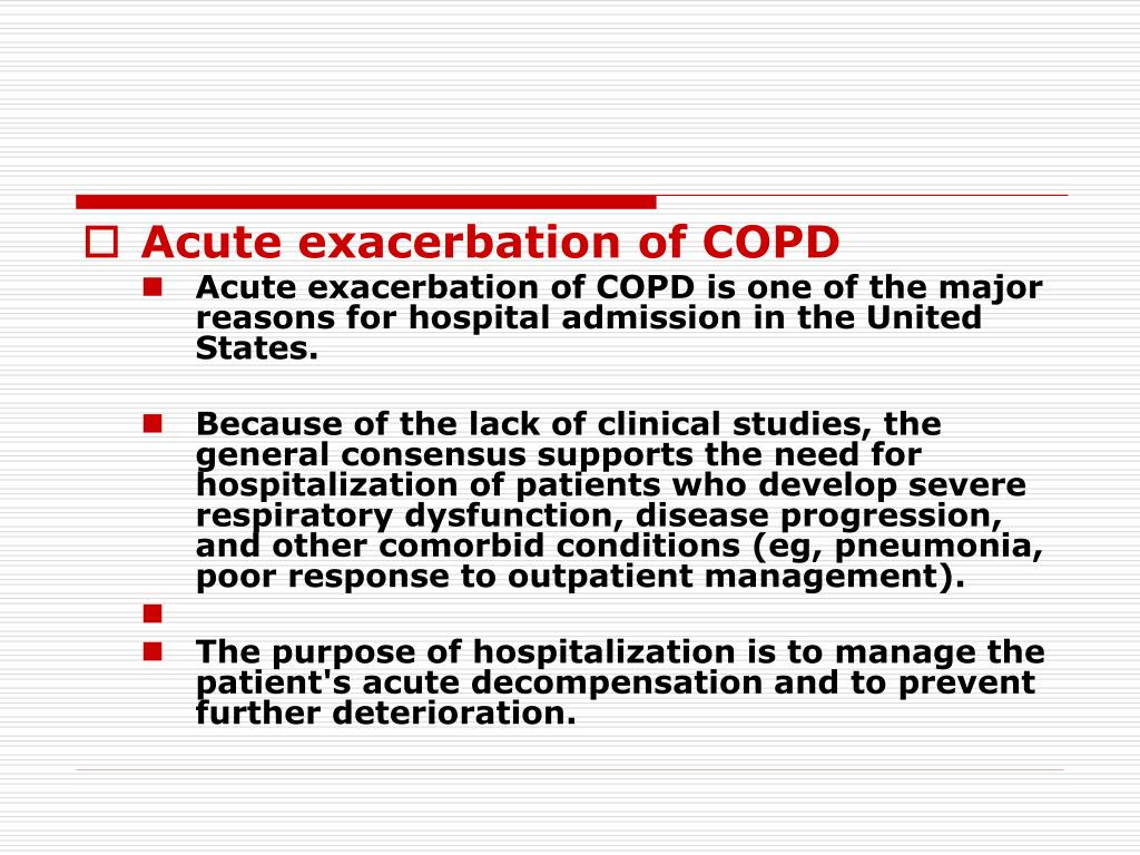 Acute exacerbation of COPD