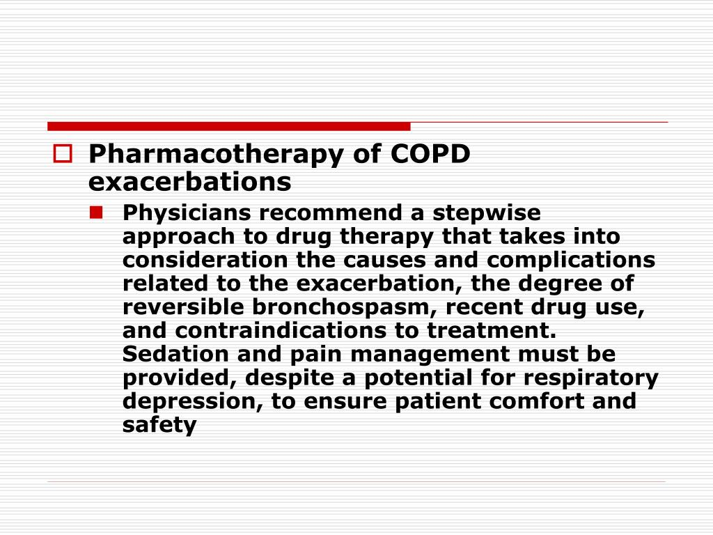 Pharmacotherapy of COPD exacerbations
