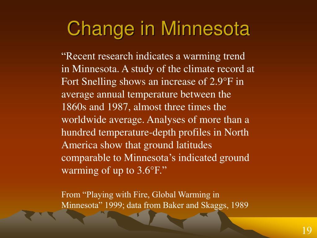 Change in Minnesota