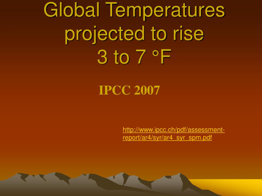 Global Temperatures projected to rise