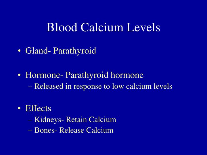 Blood Calcium Levels
