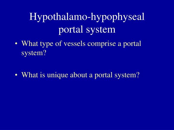Hypothalamo-hypophyseal