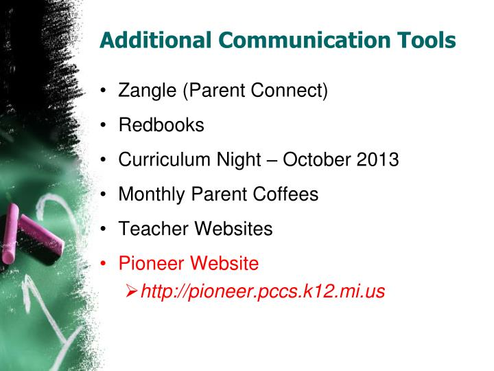 Additional Communication Tools