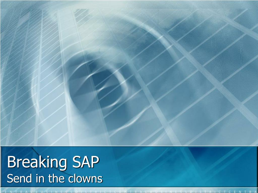 Breaking SAP