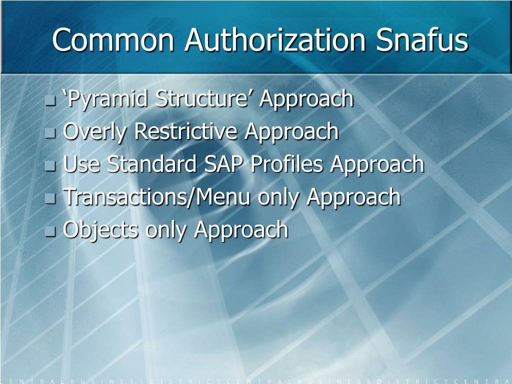 Common Authorization Snafus